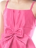 Fuchsia Satin Bow Tie Party Girls Dress