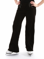 Se_Ku Black Side Zip Fleece Pants
