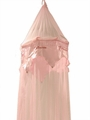 Pink Beaded Princess Embroidered Bed Canopy
