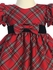 Red Plaid Baby Dress w/ Velvet Trim