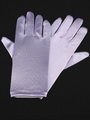 Lilac Short Satin Gloves