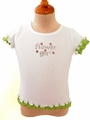 Lime Green Flower Girl T-shirt