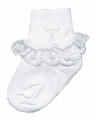 Girls Christening Socks