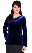 Velvet Tunic with Neckline and Sleeve Length Options