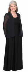 Tapered Back Chiffon Cardigan - Formalwear for the Performer
