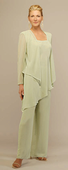 3 Pc Mother of the Bride Tunic Pant Set w/ Jacket