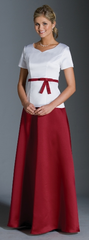 Short Sleeve Sweetheart Neck Top and Skirt Set