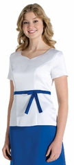 Short Sleeve Sweetheart Neckline (Athena) Top