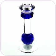 Crystal Candle Holder (Blue Octagon)
