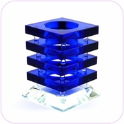 Crystal Pen Holder (blue)