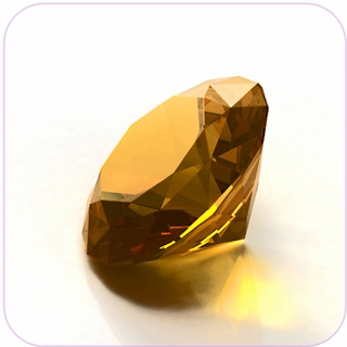"Yellow Crystal Diamond (2"") $19.96"