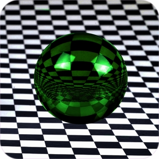 "Green CrystalBall (8"",200mm)$289.96"