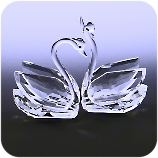 Crystal Swan (Clear) 2 pcs