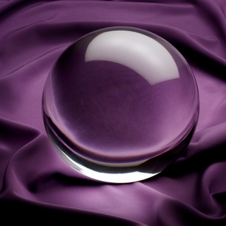 "Clear Crystal Ball (XL: 5"",130mm) $59.96"