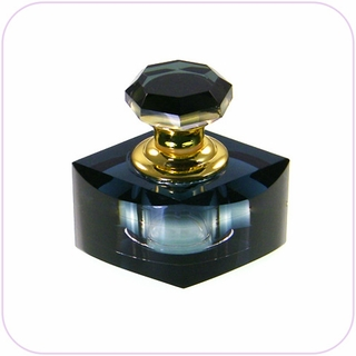Crystal Perfume Bottle For Car  (Black)