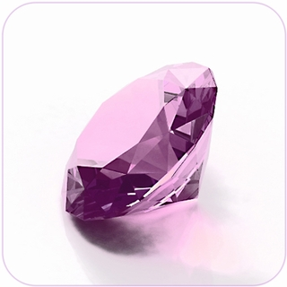 "Pink Crystal Diamond (2"") $19.96"