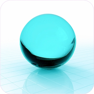 "Aqua CrystalBall (2.3"",60mm) $23.96"