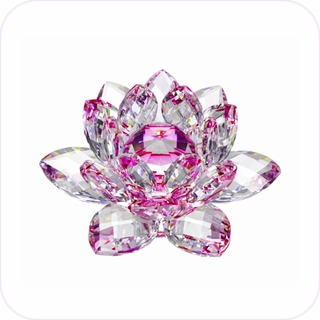 New-Style Pink Crystal Lotus (S)