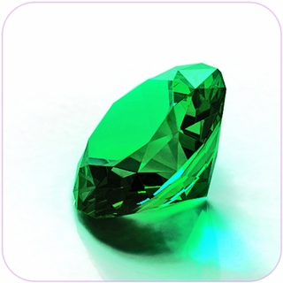 "Green Crystal Diamond (2"") $19.96"