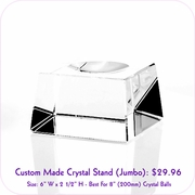 Clear Crystal Stand (Jumbo)