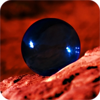 Blue (Cobalt) Crystal Ball