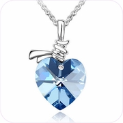 Hold My Heart Crystal Pendant Necklace #22308
