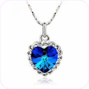 Heart of Ocean Crystal Pendant Necklace #24018