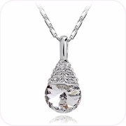 Elegant Drop Crystal Pendant Necklace #24132