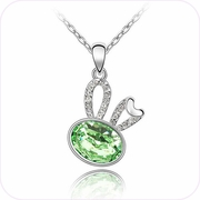 Tea Kettle Crystal Pendant Necklace #24205