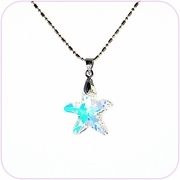 Twinkling Aurora Star Crystal Pendant Necklace #10060