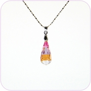 Sunset Teardrop Crystal Pendant Necklace #10080