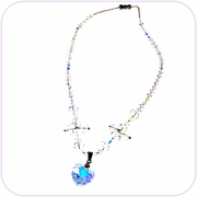 Dazzling Aurora Heart Crystal Necklace #20020