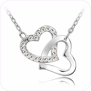 Interlocking Hearts Pendant Necklace #24022