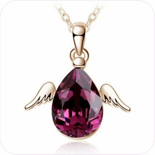 Crystal Angel Pendant Necklace #24309