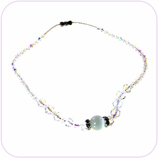 Serenity Cat's Eye Crystal Necklace #20010