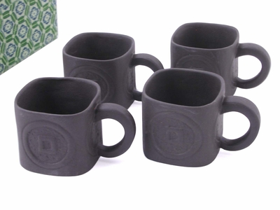 Earthen Black Color Yixing Tea Cups II