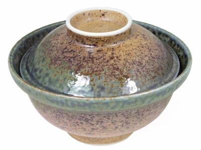 Antiquated Earthen Donburi Bowl