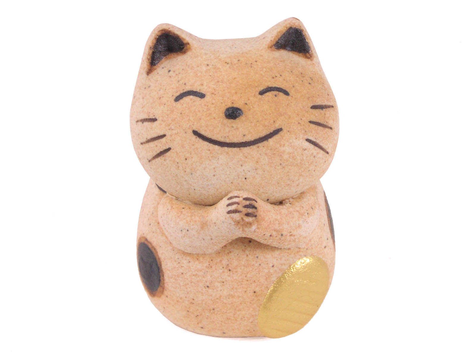 Brown Calico Ceramic Lucky Cat - photo#44