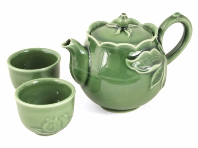 Jade Green Asian Inspired Tea Set