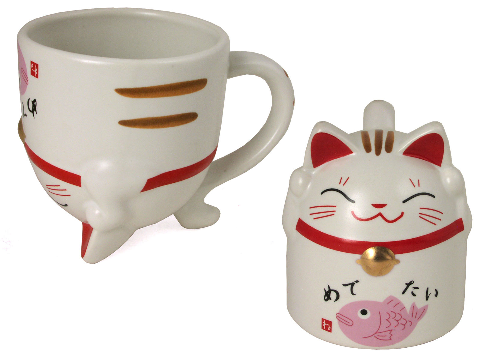 Adorable Maneki Neko Ceramic Coffee Mug - photo#43