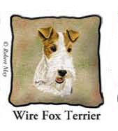 Fox Terrier  Throw Pillows
