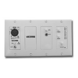 Valcom V-9985-W In-Wall Audio Mixer with Remote - White (V-9985-W)