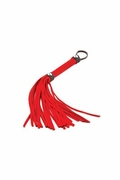 Triple X Red Suede Leather Whip 12""