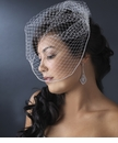 Russian Cage Veil with Swarovski Rhinestone Edge