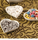 Small Porcelain Heart Favor Dishes (Set of 10) - Available 10/2013