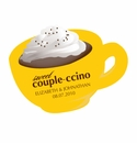 Couple-ccino Mocha / Cappuccino Themed Stickers