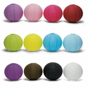 Set of 6 Round Paper Wedding Lanterns - (12 Colors; 3 Sizes)