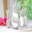 4 Piece Personalized Sand Ceremony Vase Set