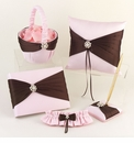 Chocolate Brown & Pink Accessories