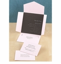 Chocolate Brown & Pink Invitations